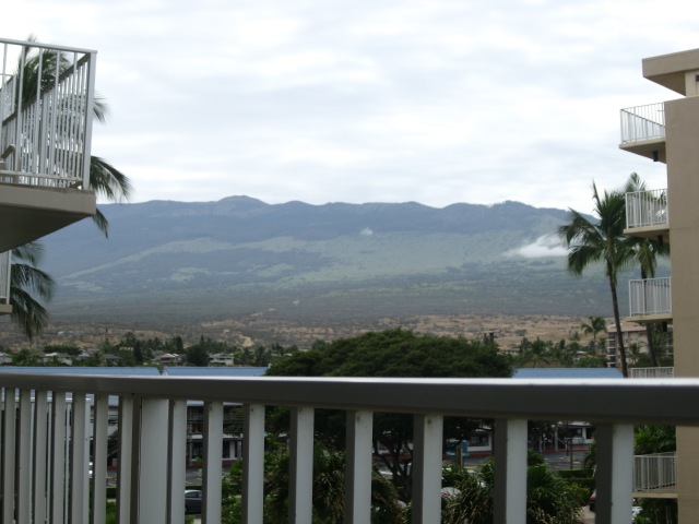 The view of the mountain from our balcony
