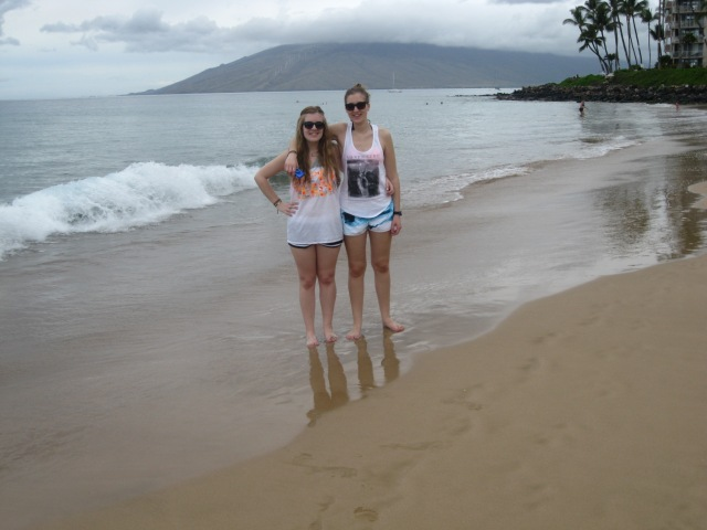 My sister Michelle and I on the beach!!