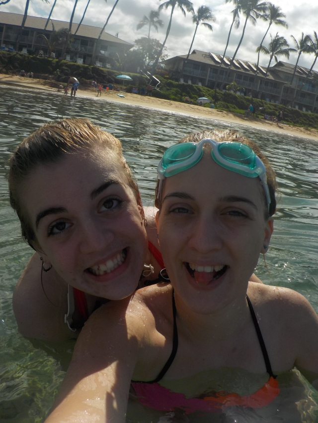 Michelle and I in the ocean!