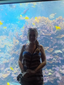 At the aquarium!