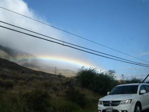 This photo doesn't really capture how amazing the rainbow was, but it gives you an idea.