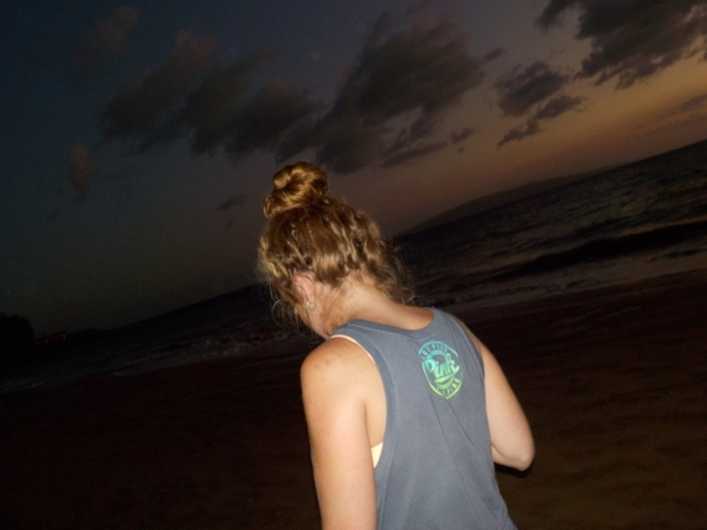 Night walks along the beach were one of my favourite things.