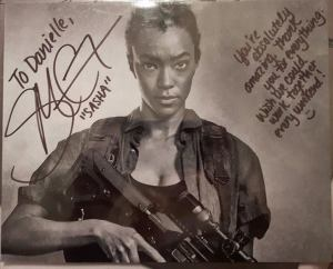 My autograph from Sonequa Martin-Green