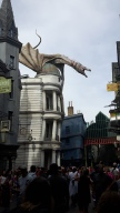 The dragon on top of Gringotts